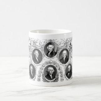 First Six U.S. Presidents Coffee Mug