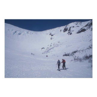 First Skiing Day at Tuckerman's Ravine Poster