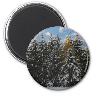 First Snow 2009 2 Inch Round Magnet