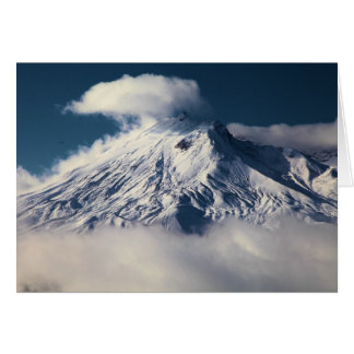 First Snow At Mt. St. Helens Card