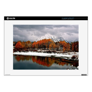FIRST SNOW AT OXBOW BEND IN GRAND TETON LAPTOP SKIN