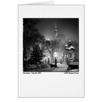 First Snow - City Hall, NYC Card