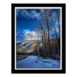 First Snow, Glacier National Park, Montana Poster