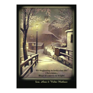 First Snow Holiday Card