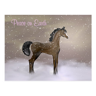 """""""First Snow"""" ~ Holiday Postcard"""