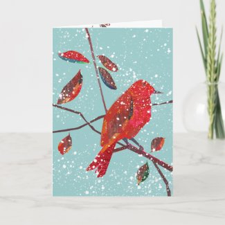 First Snow Holiday Season Cards