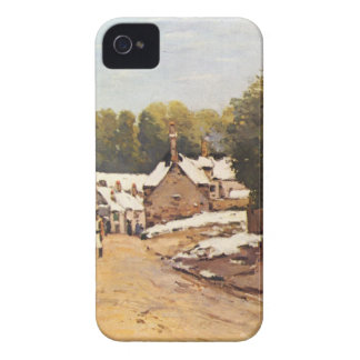 First Snow in Louveciennes by Alfred Sisley iPhone 4 Cover