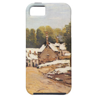 First Snow in Louveciennes by Alfred Sisley iPhone SE/5/5s Case