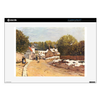 First Snow in Louveciennes by Alfred Sisley Skins For Laptops