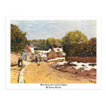 First Snow In Louveciennes By Sisley Alfred Post Cards
