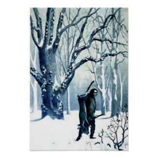 First Snow of the Season Wall Art Posters