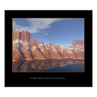 First Snow on Lake Powell Poster