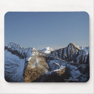 First snow on the mountains mouse pad