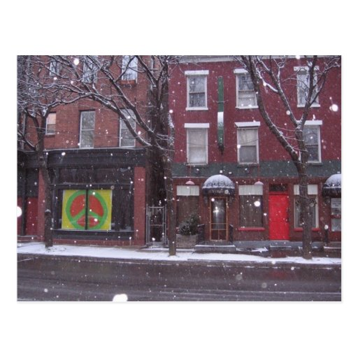 first snow post card