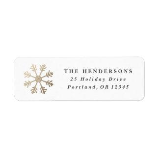 First Snow | Return address label