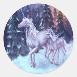 First Snow Classic Round Sticker