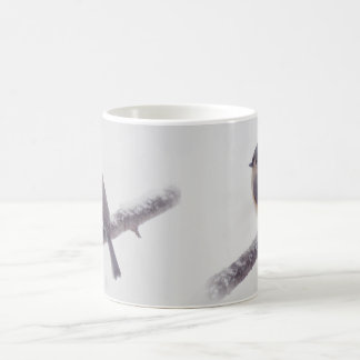First Snow - Tufted Titmouse Birds Coffee Mug