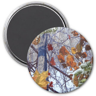 First Snow Winter Camo Print Refrigerator Magnets