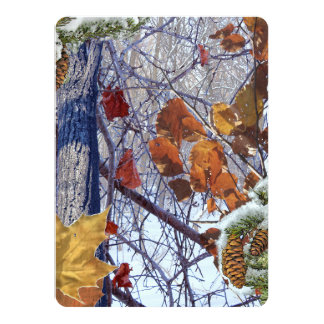 First Snow Winter Camouflage Print 5.5x7.5 Paper Invitation Card