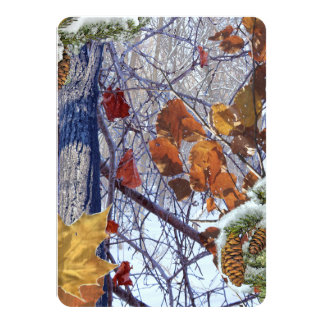 First Snow Winter Camouflage Print Card
