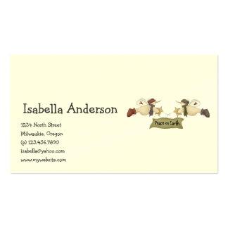 First Snowel · Peace on Earth Business Card Templates