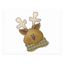 First Snowel · Reindeer Postcard