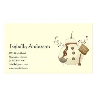 First Snowel · Snowman Business Cards