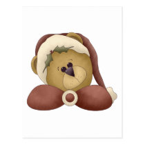 First Snowel · Teddy Bear Postcard
