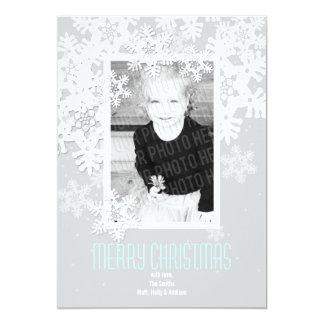 """First Snowfall"" Customizable Photo Christmas Card"