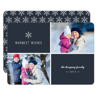 First Snowfall Holiday Photo Card - Navy