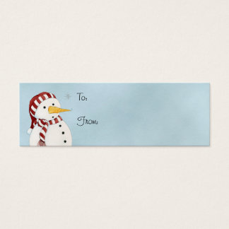First Snowflake Gift Tag