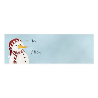 First Snowflake Gift Tag Business Card Template