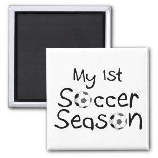 First Soccer Season 2 Inch Square Magnet