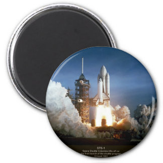 First Space Shuttle launch STS-1 Columbia 2 Inch Round Magnet