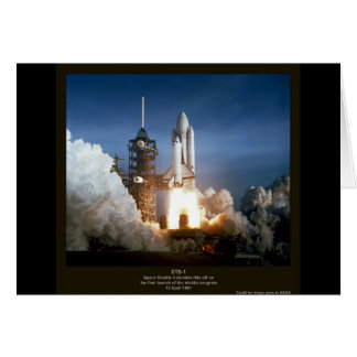 First Space Shuttle launch STS-1 Columbia Card