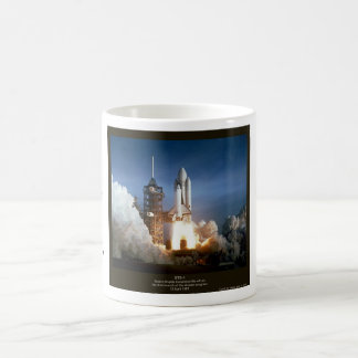 First Space Shuttle launch STS-1 Columbia Classic White Coffee Mug