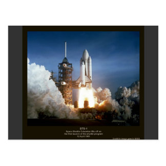 First Space Shuttle launch STS-1 Columbia Postcard