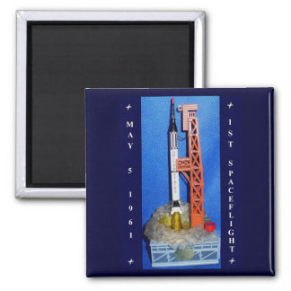 First Spaceflight 2 Inch Square Magnet