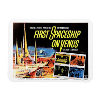 """First Spaceship on Venus"" Magnet"