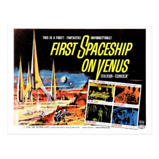 """First Spaceship on Venus"" Postcard"