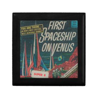 First Spaceship on Venus Vintage Scifi Film Keepsake Box