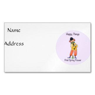 First Spring Flower Business Card Magnet