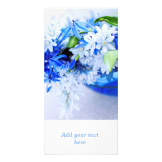 First spring flowers photo card