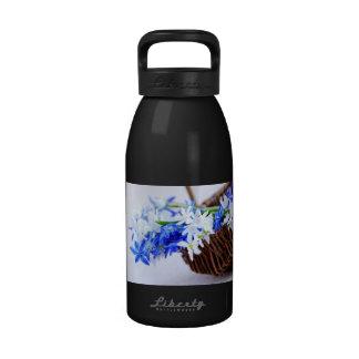 First spring flowers drinking bottles