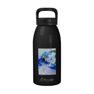 First spring flowers water bottles