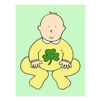 First St Patrick's Day for a baby. Postcard