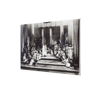 "First stage performance in England ""Semele"" Canvas Print"