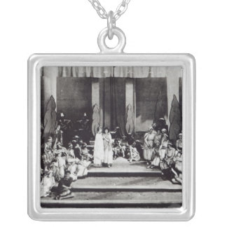 "First stage performance in England ""Semele"" Silver Plated Necklace"
