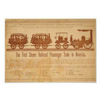First Steam Railroad Passenger Train In America Card