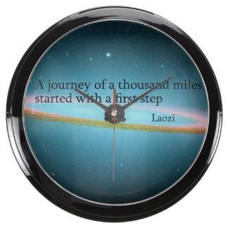 First Step Laozi Quote Aqua Clock
